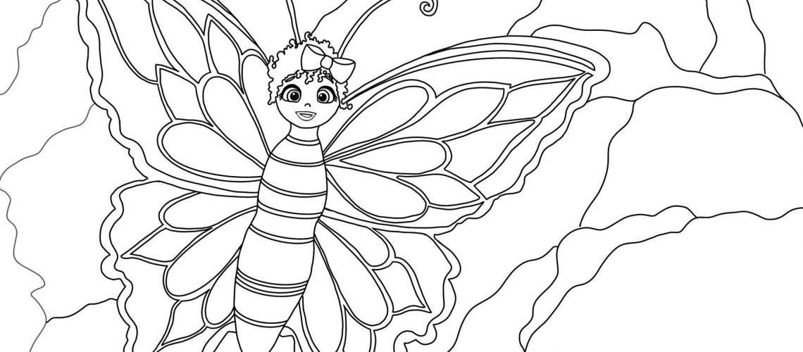 from Bella the Butterfly mindulness colouring book